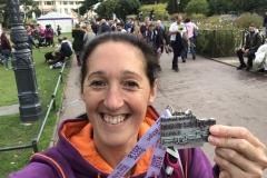 Medal Selfie at Bournemouth Marathon