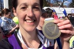 Medal selfie at Manchester marathon