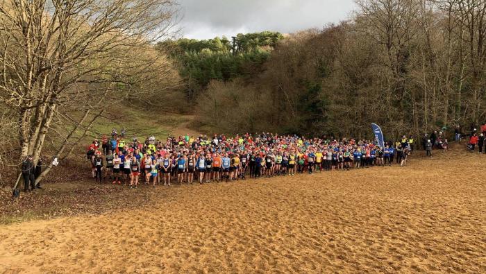 Merthyr Mawr Christmas Pudding Race start line