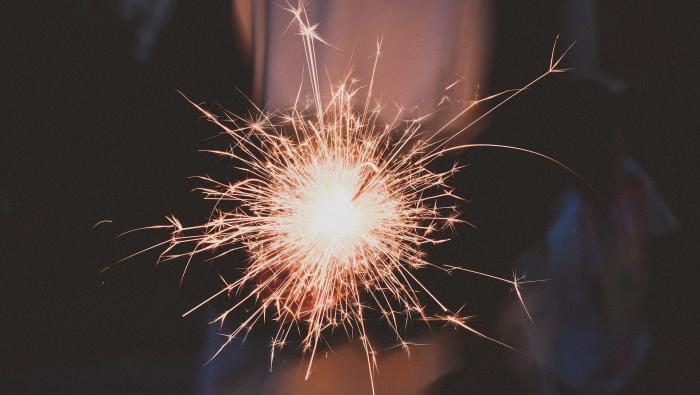 Wow What A Year - firework sparkler
