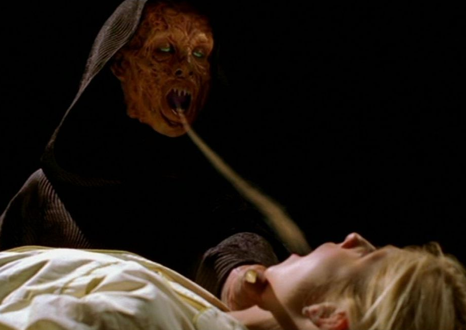 Demon sucking soul out of a girl gif