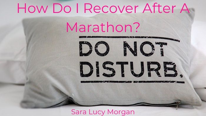 How Do I Recover After A Marathon - pillow with do not disturb printed on it