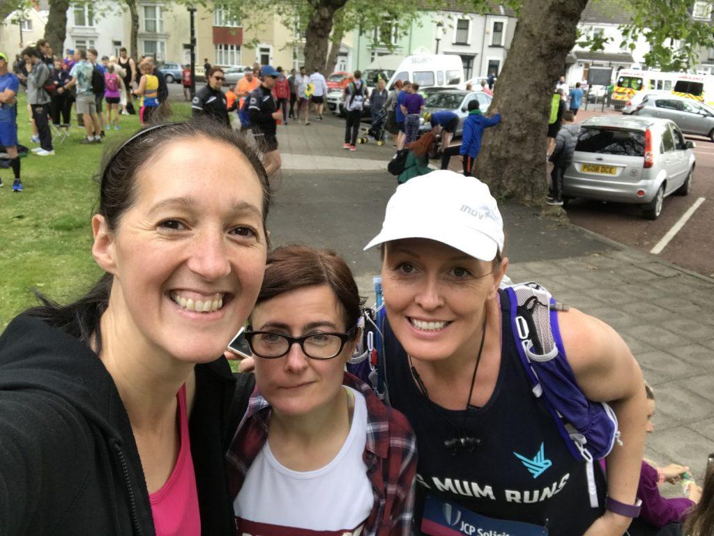 My pre race selfie with Rhian and Rosie