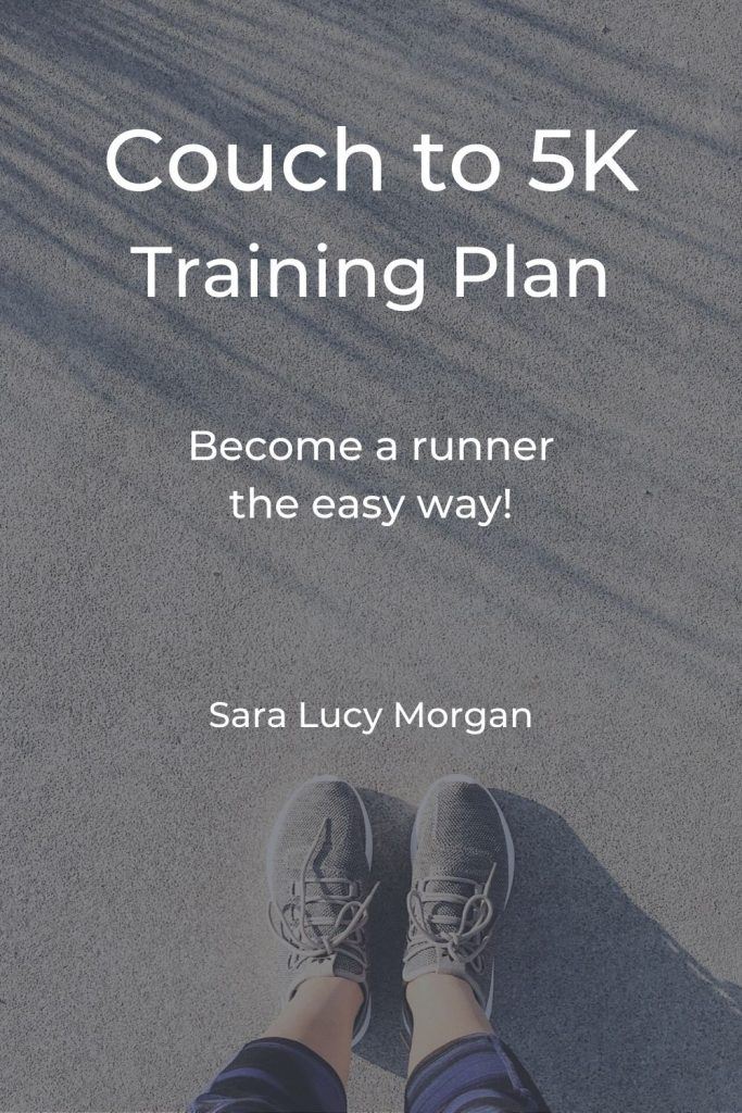 Couch to 5K training plan - photo of woman's calves and feet with trainers on standing on the pavement