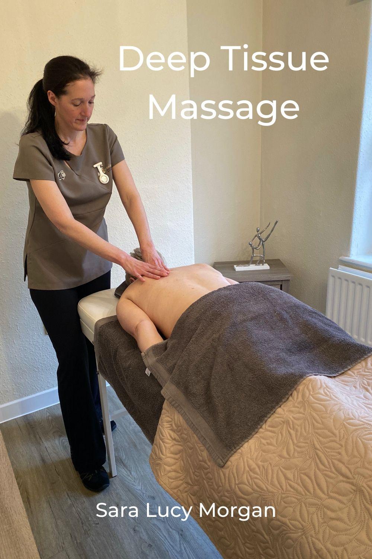 Sara with deep tissue massage client