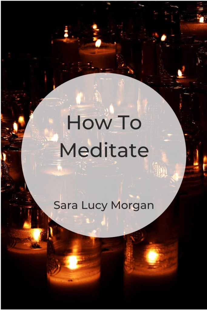 How to meditate - picture of lit candles