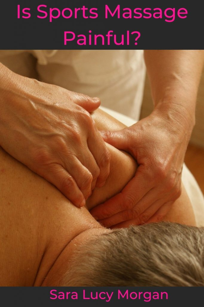 Is sports massage painful - practitioner kneading client's shoulder