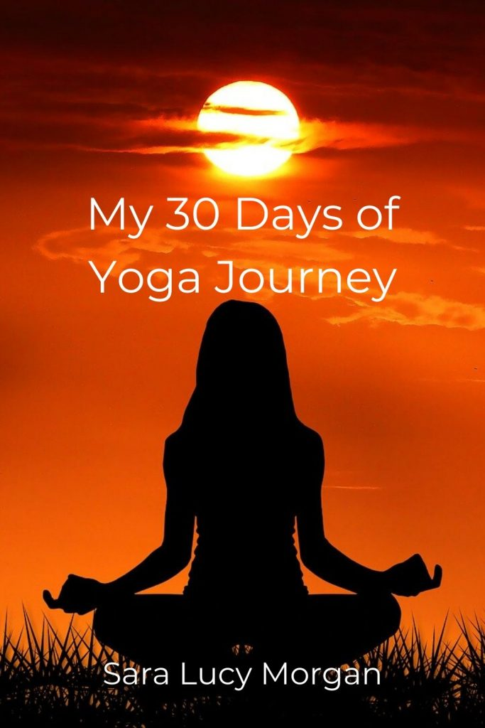30 Days of Yoga - silhouette of woman meditating