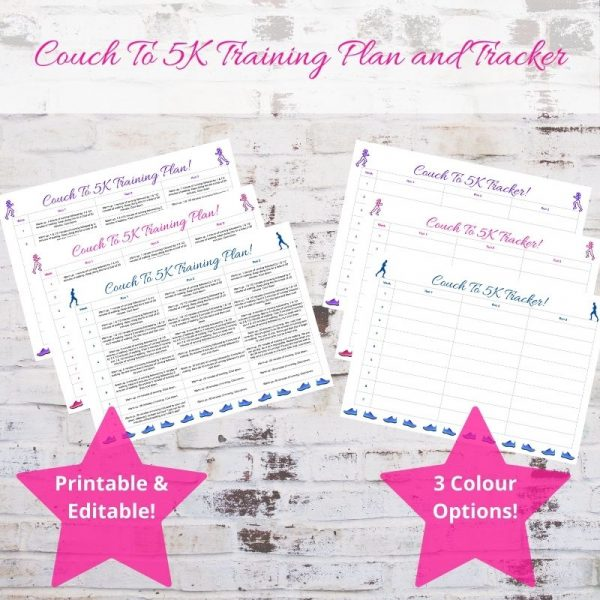Couch To 5K Training Plan and Tracker