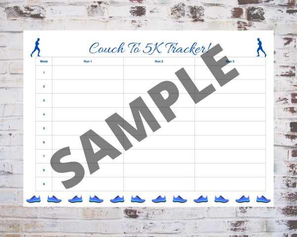 Couch To 5K Tracker in Blue