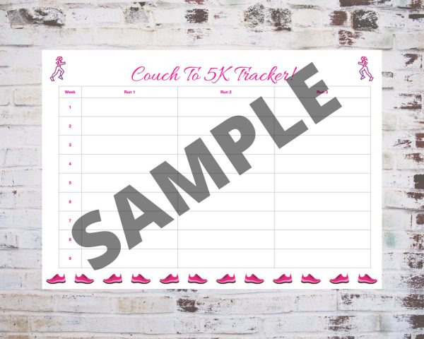 Couch To 5K Tracker in Pink