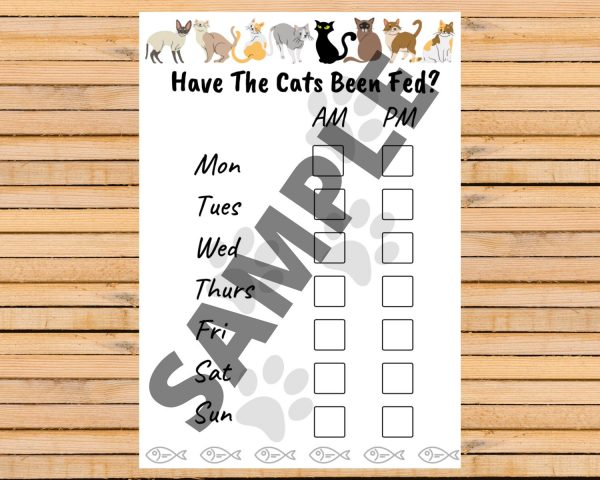 Printable feeding chart for your cats