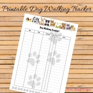 Printable Dog Walking Tracker
