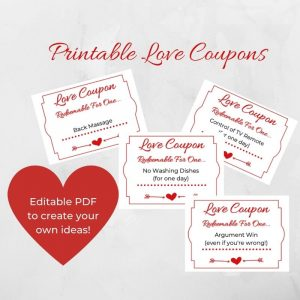 Printable Love Coupons