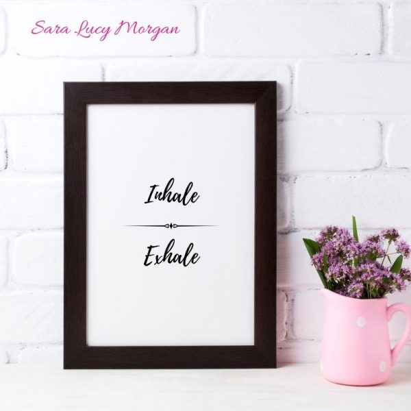 Inhale Exhale Printable Wall Art