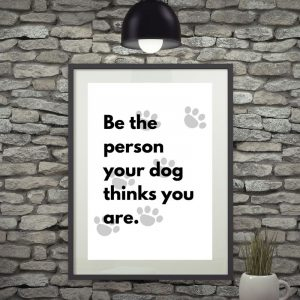 Person Dog Printable Wall Art