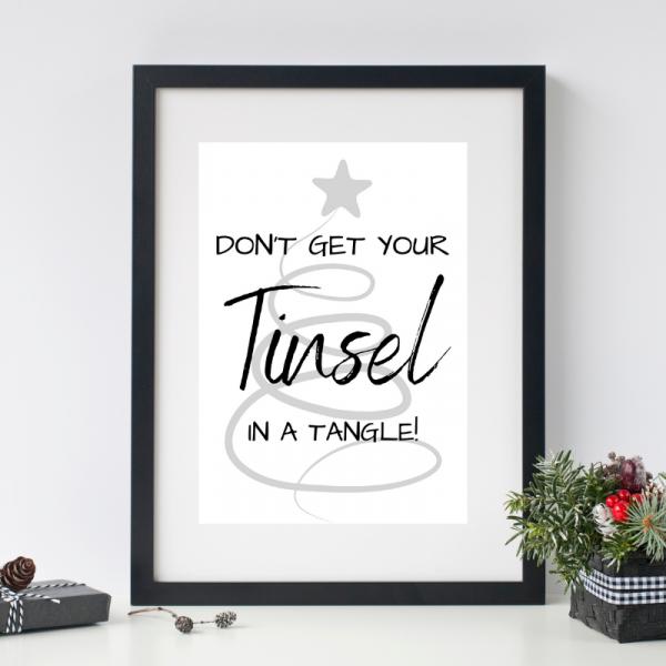 Tinsel Printable Christmas Wall Art