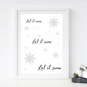 Let It Snow Printable Christmas Wall Art