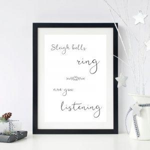 Sleigh Bells Printable Christmas Wall Art