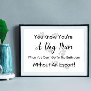 Printable dog mum wall art